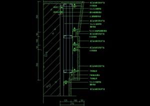 某現代室內造型墻幕墻設計cad施工圖