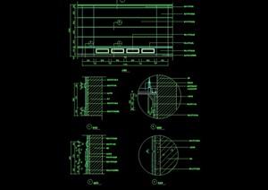 某室內造型墻幕墻素材設計cad施工圖