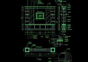 某住宅室内造型墙幕墙设计cad施工图