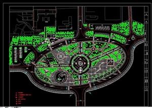 某独特广场景观绿化设计CAD方案