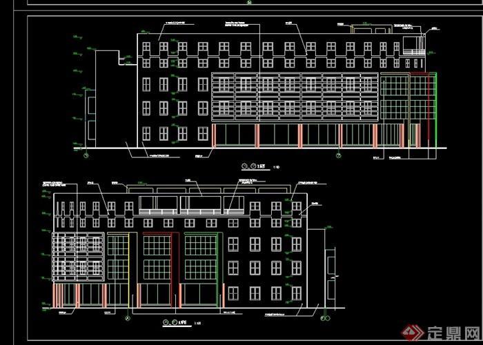 学校食堂建筑详细设计cad施工图