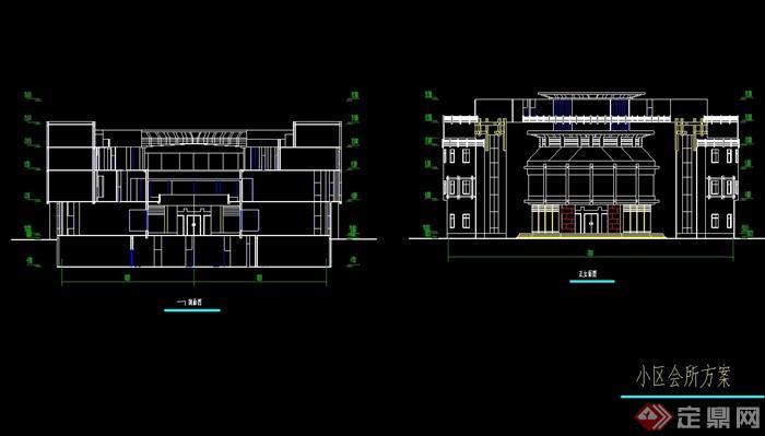 小区住宅楼设计cad全套图