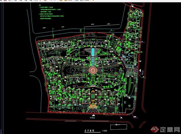 某住宅小区详细规划设计cad总平1:500