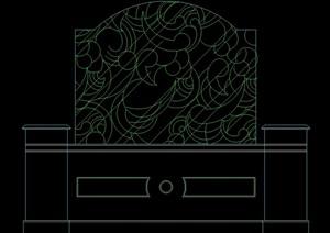 中式多個隔斷幕墻設計cad方案