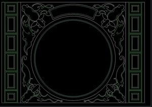 中式6種隔斷幕墻設計cad方案