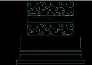 六種室內中式隔斷墻設計cad方案