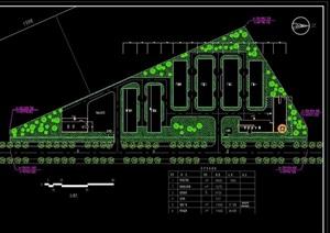 某现代风格小工厂环境规划设计cad方案