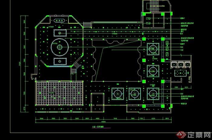 某宾馆一层装修设计cad施工图