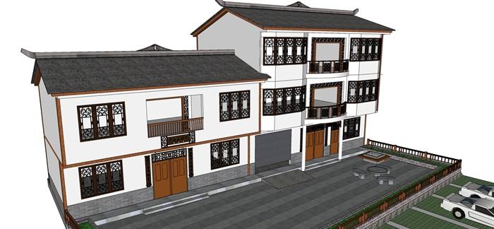 北川單體建筑su模型(2)