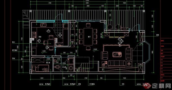 某现代详细的住宅室内cad全套装修施工图