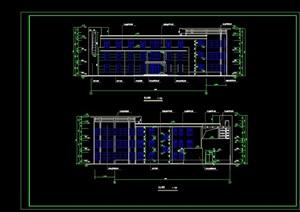 现代风格三层会所设计cad全套施工图