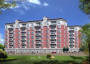 120平米住宅及错层建筑设计cad施工图带效果图