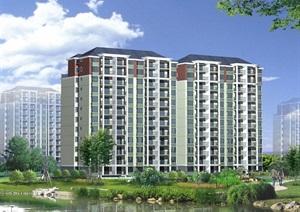 12层小高层住宅楼建筑楼cad施工图带效果图