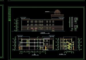 某小区会所设计结构建筑cad施工图