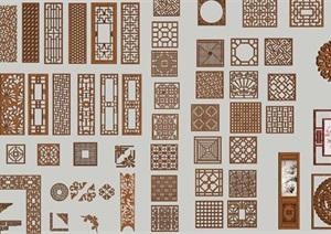 中式雕花的SU(草图大师)模型各种类型