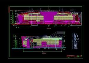 某现代风格商业中心建筑设计cad施工图