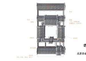 北京四合院三进院SU(草图大师)精品模型
