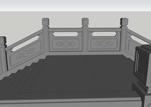 中式石拱桥的精品SU(草图大师)模型