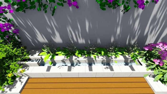 露台花园景观设计su模型2(4)