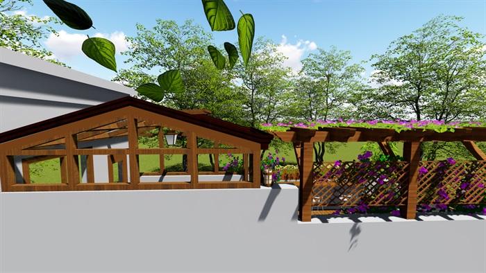 露台花园景观设计su模型2(7)