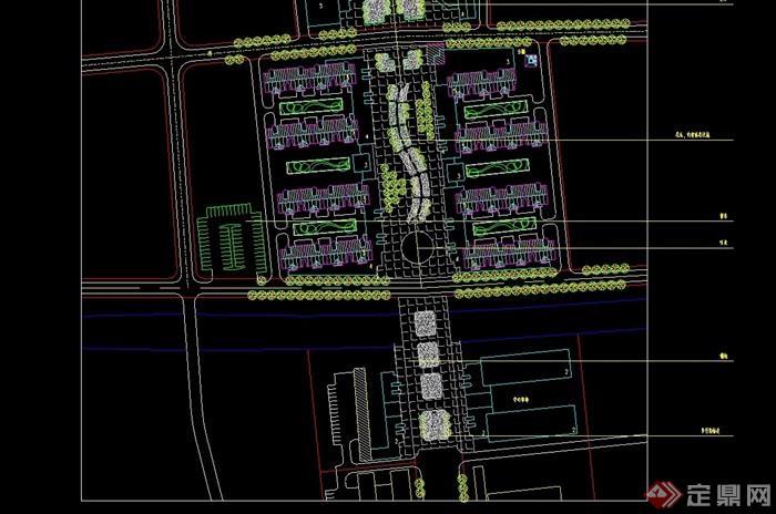 某现代风格街边住宅小区详细规划cad方案