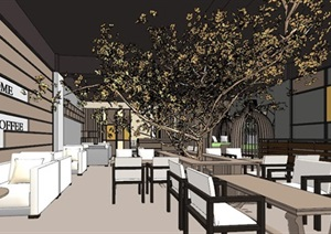 现代轻奢简约休闲风两层咖啡馆咖啡厅休闲室