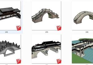 24款中式景观桥石桥木桥