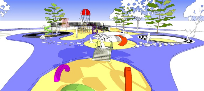 现代创意彩色儿童乐园儿童游乐园儿童活动场(3)