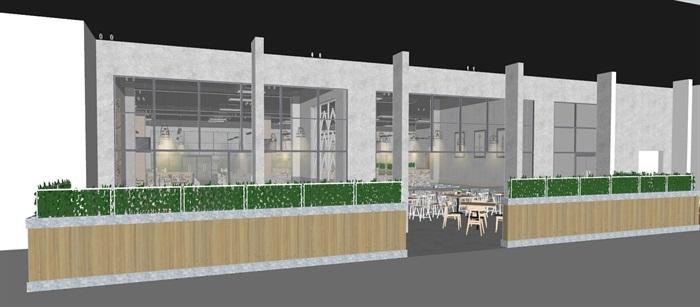 现代员工食堂饭堂学校食堂室内设计(1)