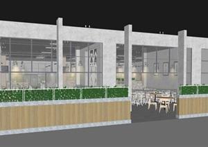 现代员工食堂饭堂学校食堂室内设计