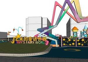 现代儿童游乐园SU(草图大师)模型