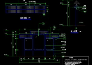 特色宣传栏详细CAD施工图