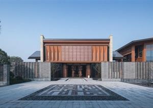嘉善孔雀城中式示范区效果图及SU(草图大师)模型
