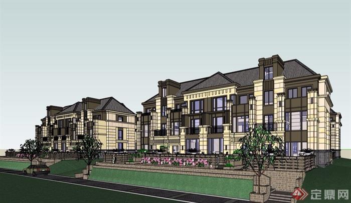 精致詳細的完整住宅別墅設計su模型
