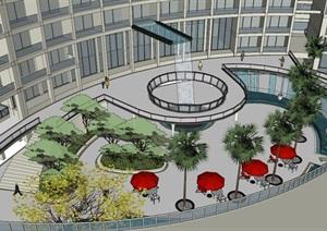 017酒店整体建筑景观模型