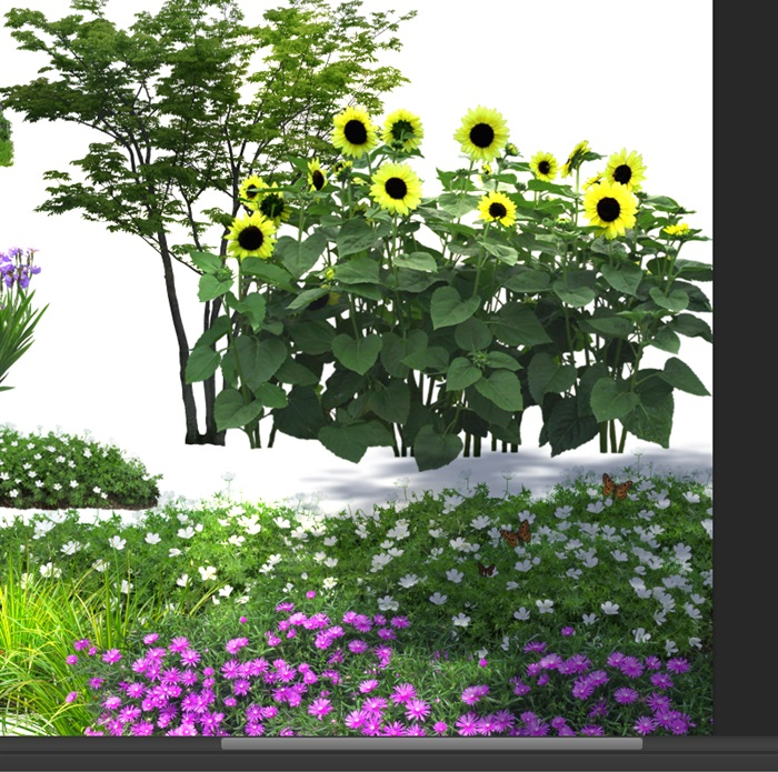 各類植物花卉園林景觀后期制作素材psd(4)