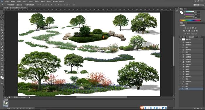 園林景觀中各類后期制作植物組景素材psd(1)