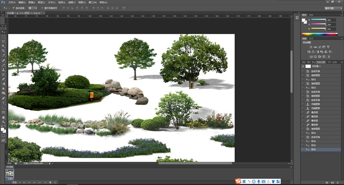 園林景觀中各類后期制作植物組景素材psd(4)