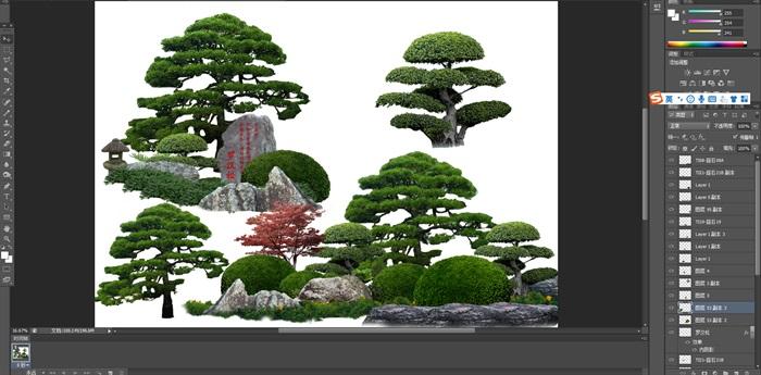 造型樹組景后期制作素材psd(1)