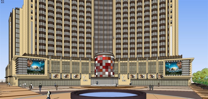 Art-deco 公寓+酒店 模型(3)