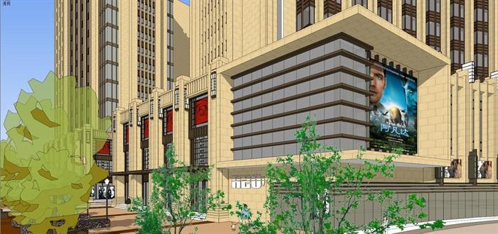 Art-deco 公寓+酒店 模型(4)