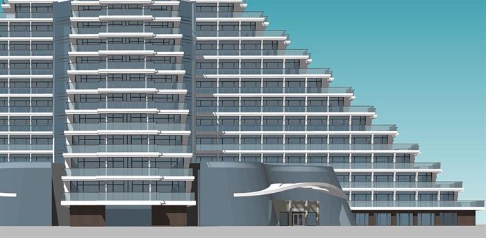 現代退臺式度假酒店 公寓(1)