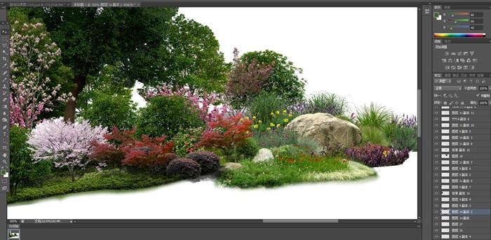 大量树木花树植物花卉草类植物素材psd(2)