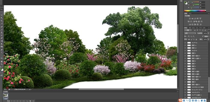 大量树木花树植物花卉草类植物素材psd(6)