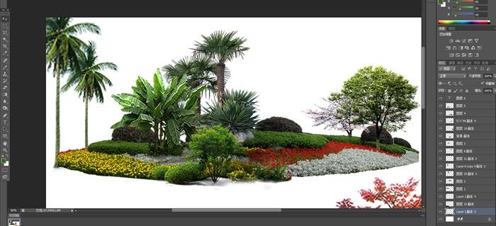 植物花卉園林景觀后期制作素材2psd(3)