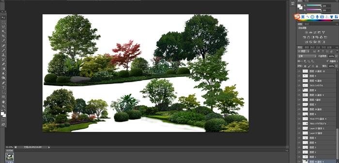 植物花卉組景后期制作素材psd(1)