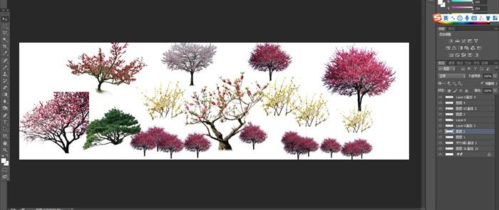 梅花園林景觀后期制作素材psd(1)
