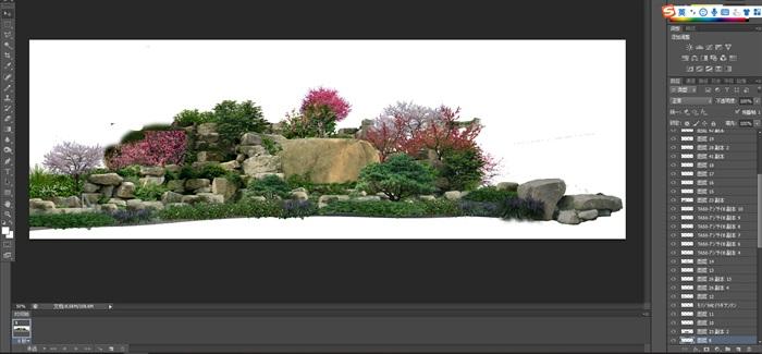 置石景觀組景后期制作素材psd(1)