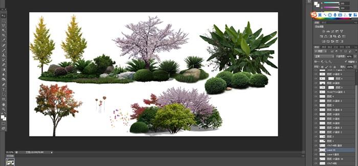 園林景觀中植物后期制作素材psd4(1)