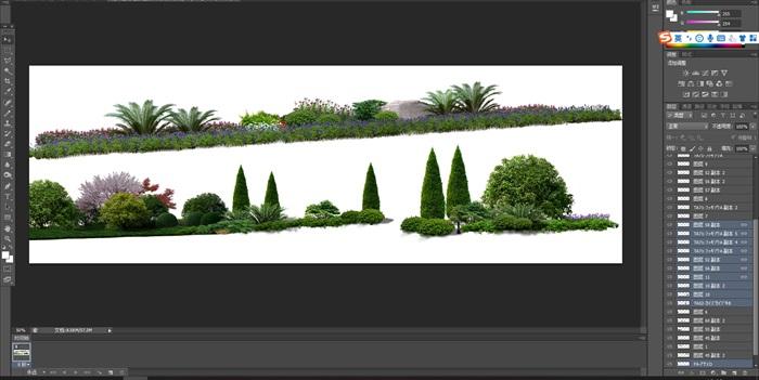 花卉植物組景造景后期制作素材psd(1)